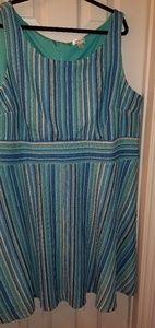 Dressbarn Striped Crochet Swing Dress